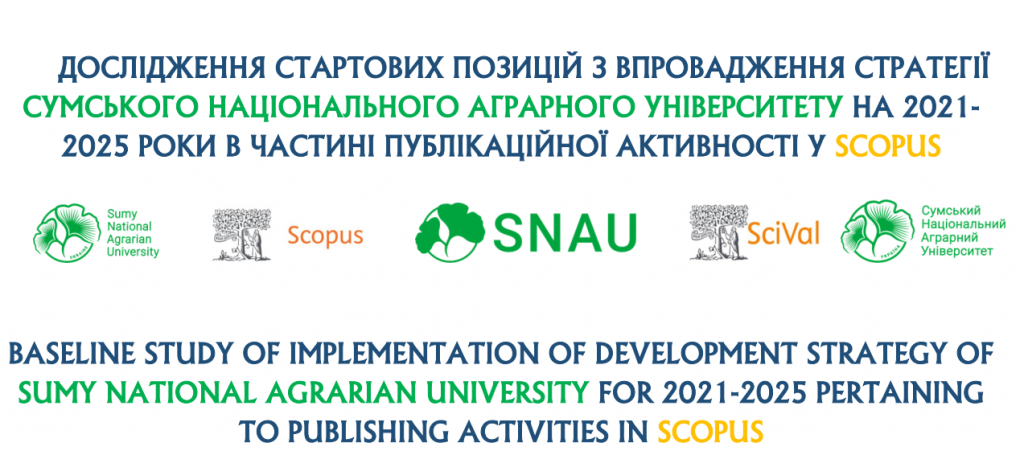Дослідження щодо стартових позицій з впровадження стратегії в частині публікаційної активності у SCOPUS